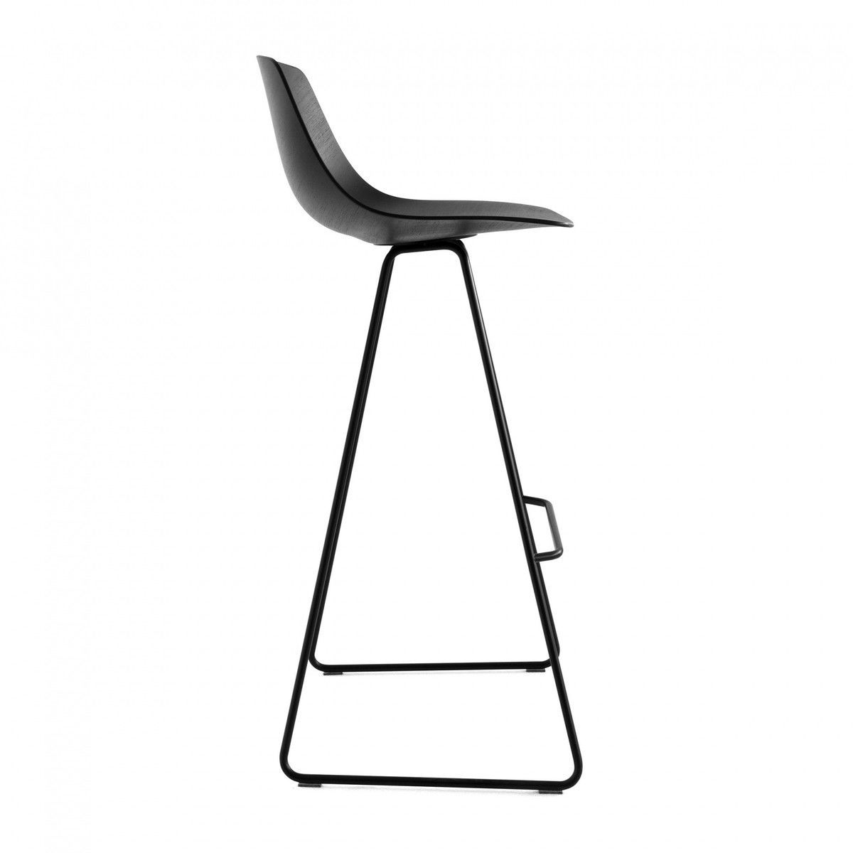 Miunn Bar Stool Skid Legs Black La Palma
