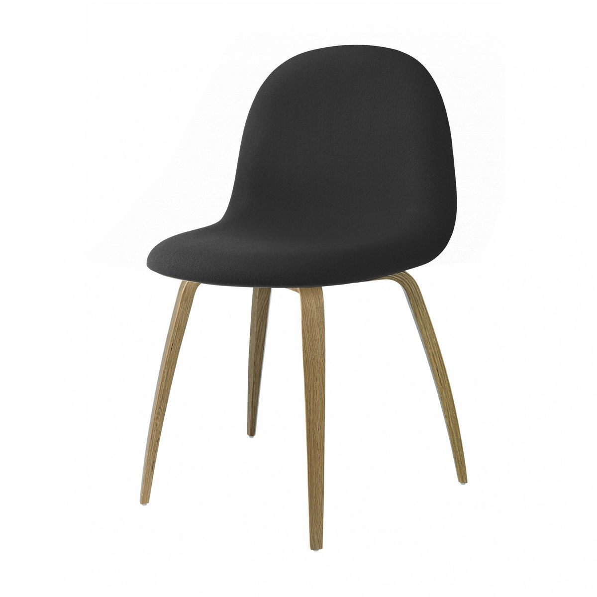 gubi 3d chair upholstered with wood frame gubi. Black Bedroom Furniture Sets. Home Design Ideas