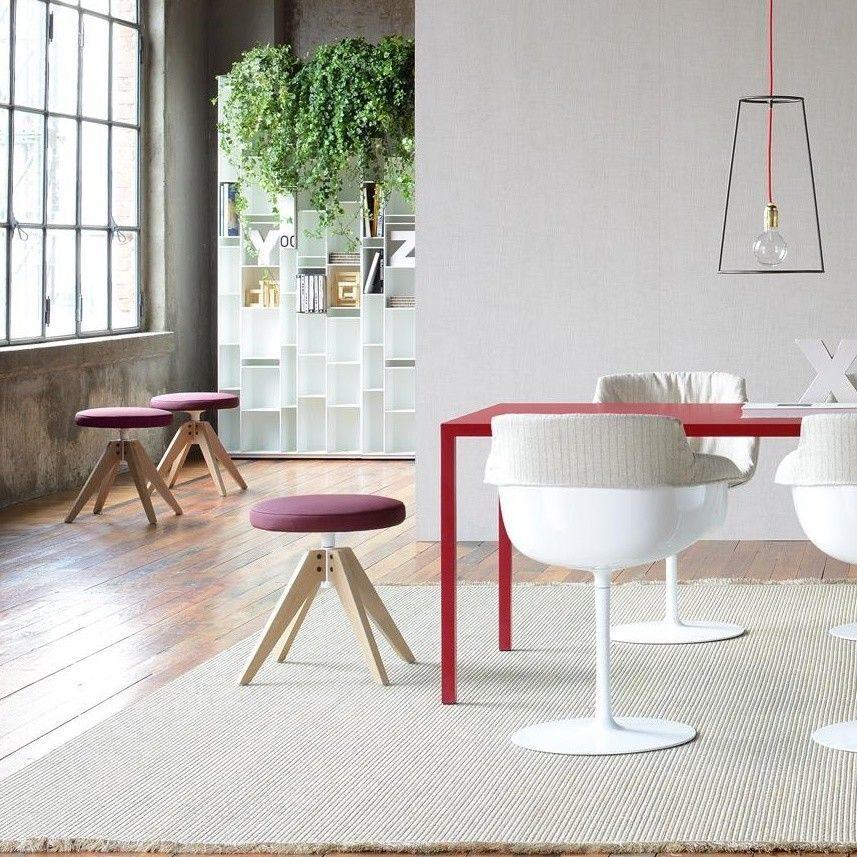 flow pouf hocker gepolstert 48cm mdf italia. Black Bedroom Furniture Sets. Home Design Ideas