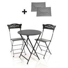 Fermob - 2 Bagatelle Stühle + 1 Bistro Tisch