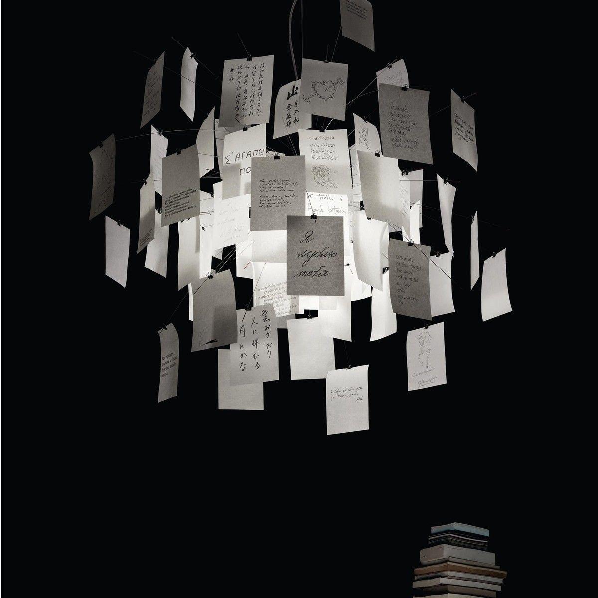 Zettel 39 z 5 suspension lamp ingo maurer for Lustre moderne design contemporain