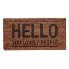 Bloomingville - Hello People Fußmatte