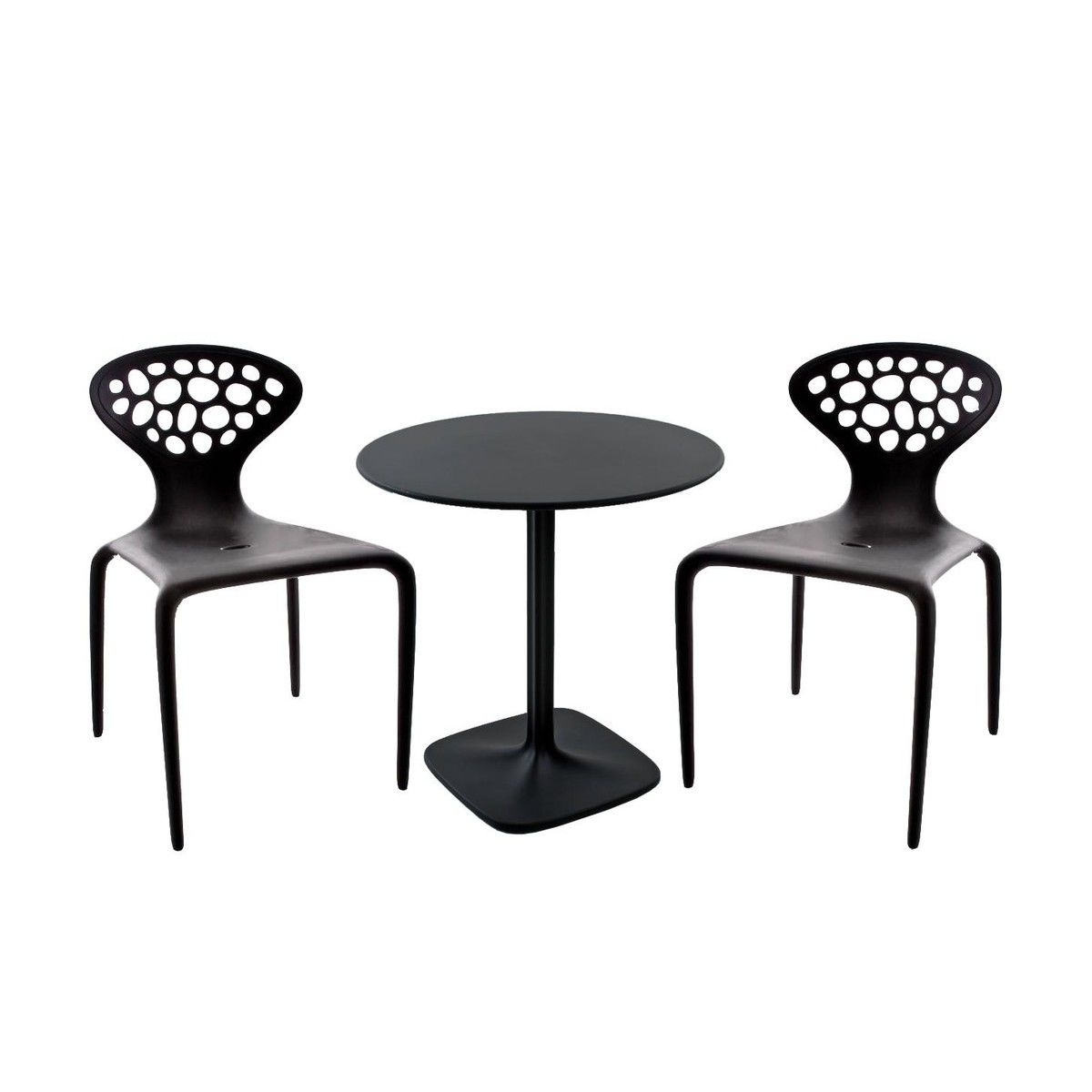 Supernatural set 2 chairs 1 table moroso for Furniture 63376