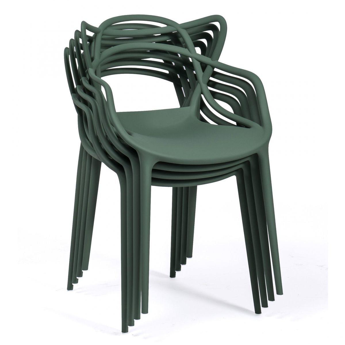 masters stuhl 4er set kartell. Black Bedroom Furniture Sets. Home Design Ideas
