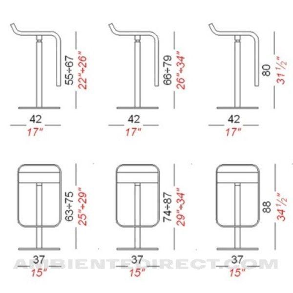 Lem 80 Fix Bar Stool Frame Chrome Mat La Palma