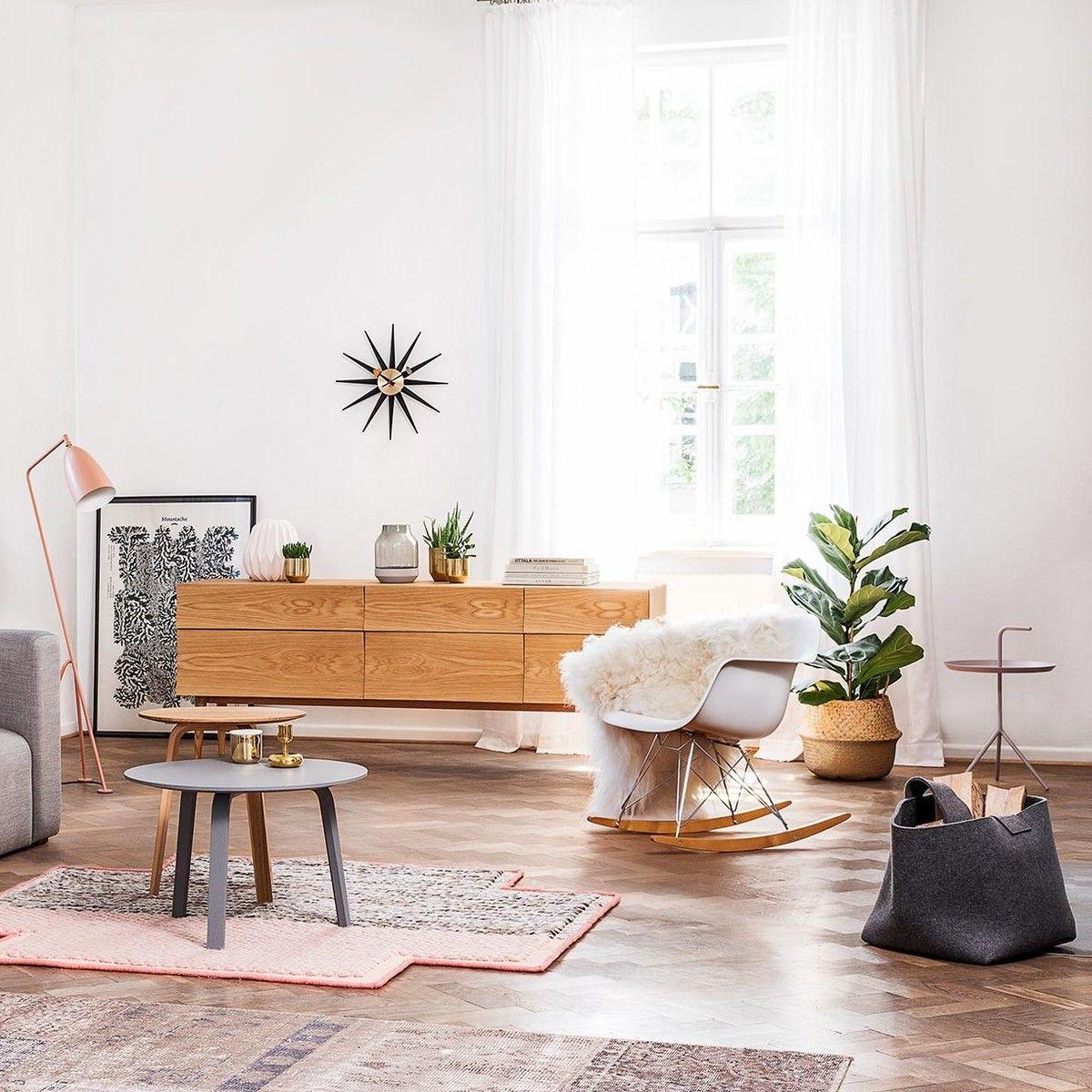 Aktionsset rar schaukelstuhl fell vitra for Vitra design teppich