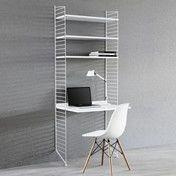 String - String Office Regal - weiß/200x78x58cm