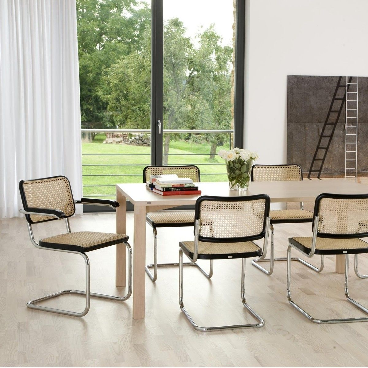 thonet s 64 freischwinger armlehnstuhl thonet. Black Bedroom Furniture Sets. Home Design Ideas