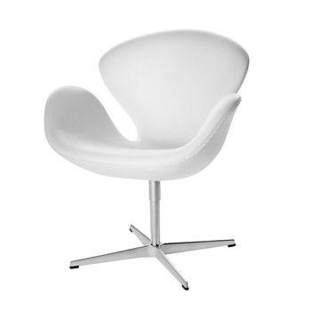 Swan chair sessel leder fritz hansen for Schwan sessel replica