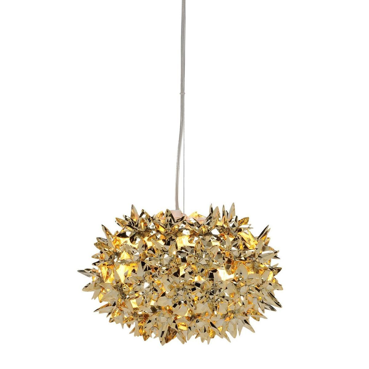 kartell bloom metallic ball s2 suspension lamp 28cm goldglossy bloom lamp gold ferruccio laviani