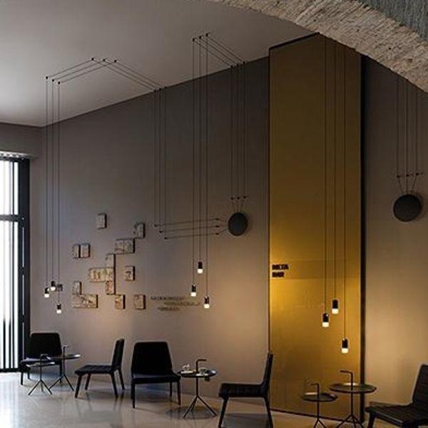 wireflow freeform 0350 led pendelleuchte vibia. Black Bedroom Furniture Sets. Home Design Ideas