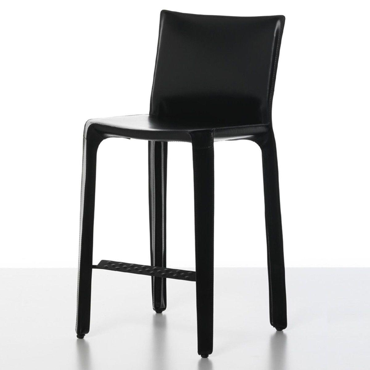 cab mario bellini kernleder barhocker 68cm cassina. Black Bedroom Furniture Sets. Home Design Ideas