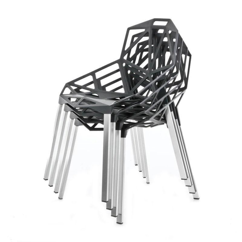 chair one ensemble de 4 chaises coussins magis. Black Bedroom Furniture Sets. Home Design Ideas