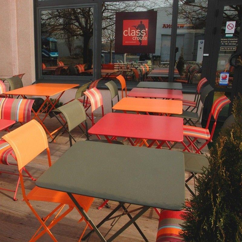 Bistro folding table 57x57cm fermob - Table bistro fermob ...