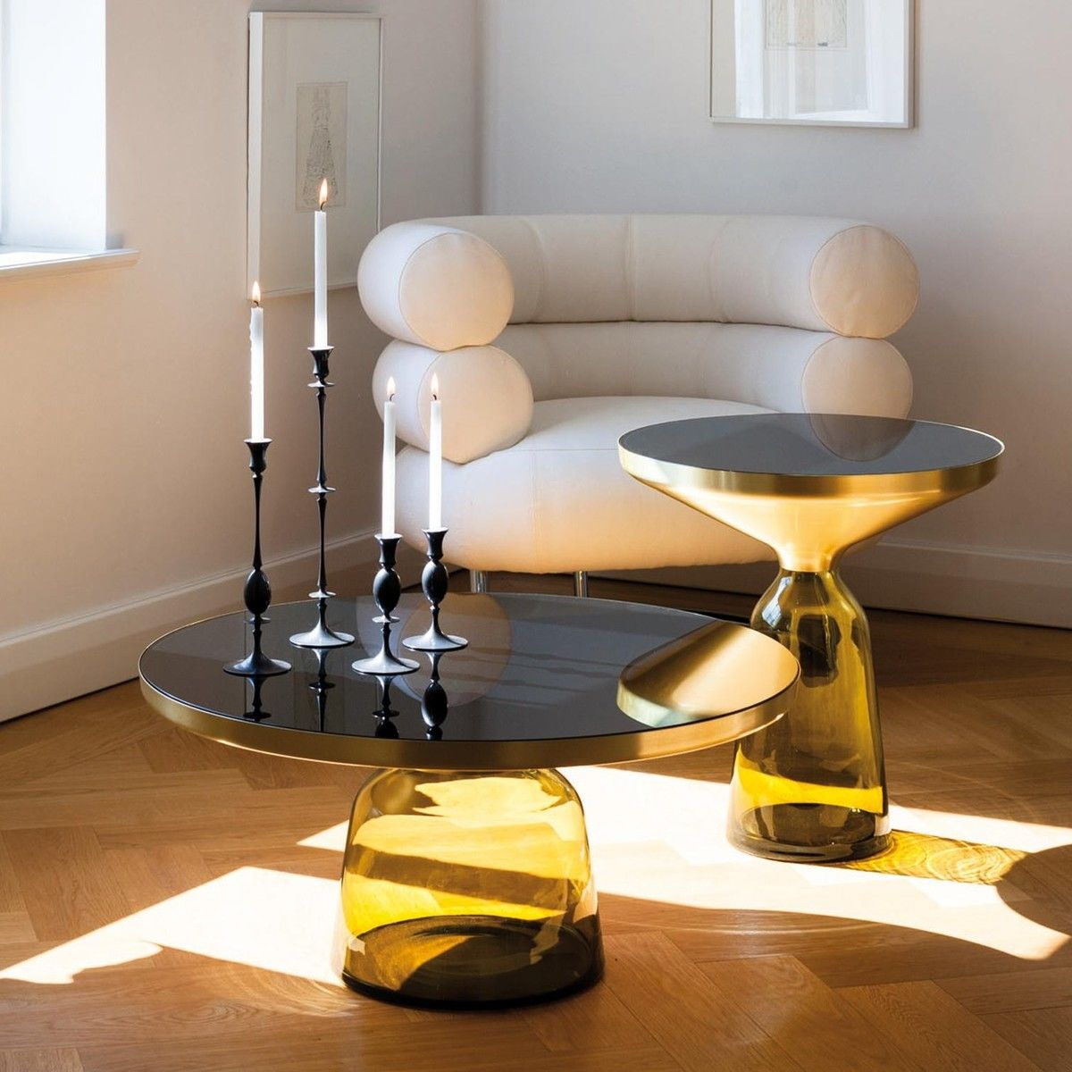 bell coffee table brass classicon. Black Bedroom Furniture Sets. Home Design Ideas