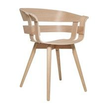 DesignHouse Stockholm - Wick Armchair With Wooden Frame