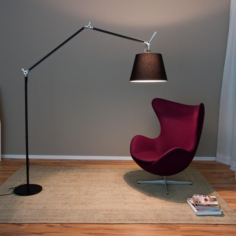 tolomeo mega terra black dimmer floor lamp