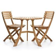 Skagerak - 1 Vendia Tisch + 2 Vendia Gartenstühle