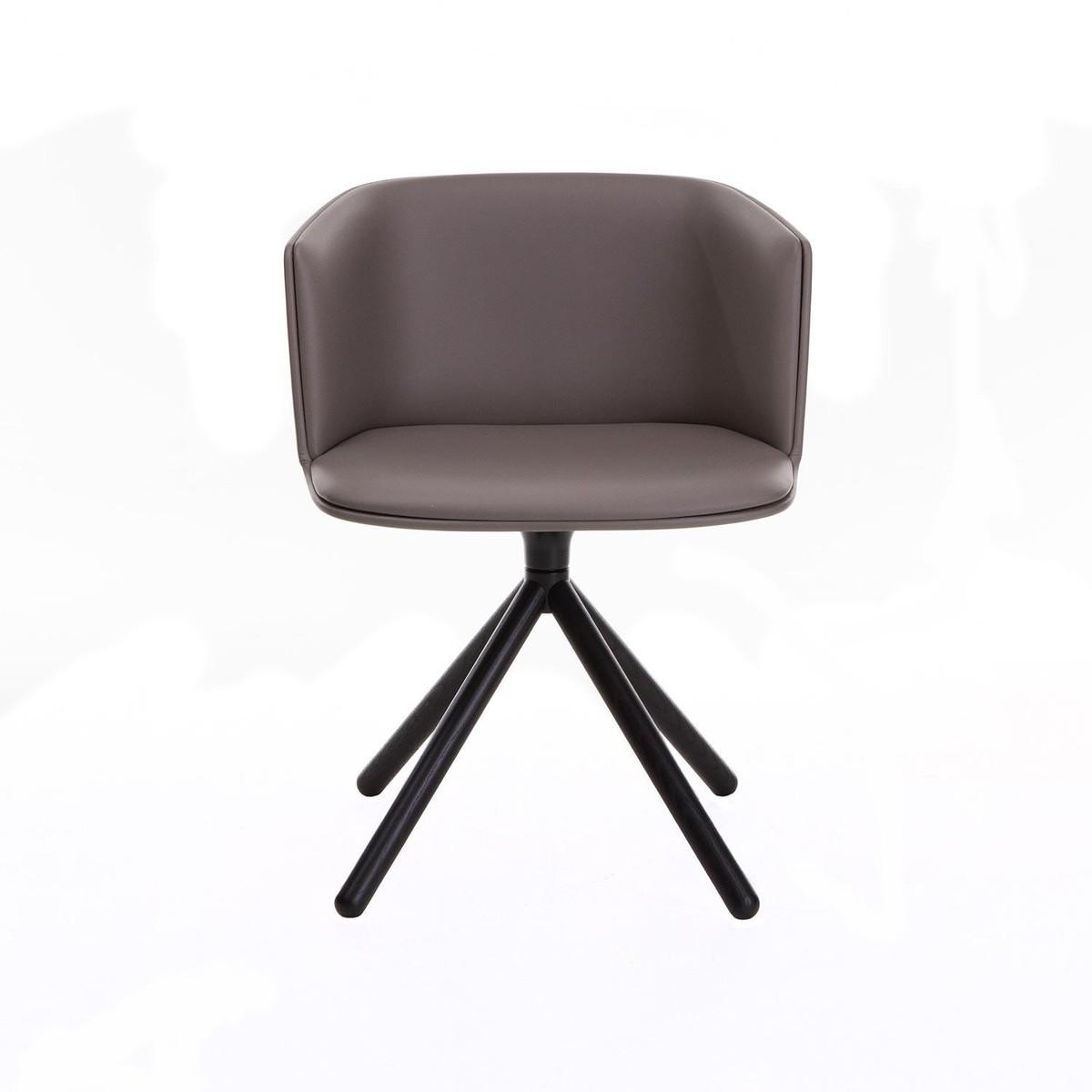 cut armlehnstuhl leder holzgestell schwarz la palma. Black Bedroom Furniture Sets. Home Design Ideas