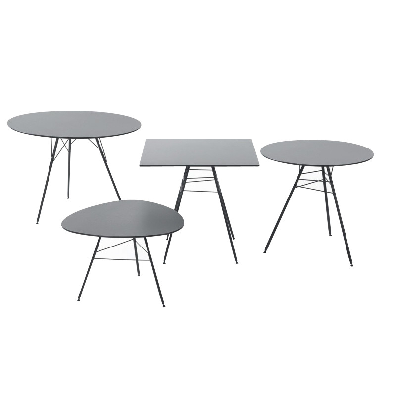 Leaf table d 39 appoint triangulaire h50 arper - Table triangulaire design ...