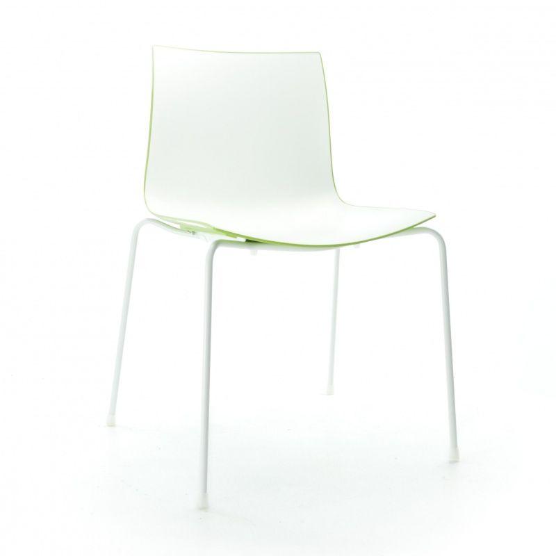 catifa 46 0251 stuhl zweifarbig gestell wei arper. Black Bedroom Furniture Sets. Home Design Ideas