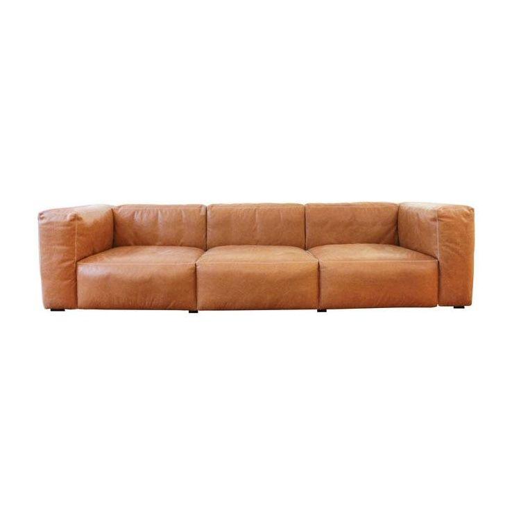 mags soft 3 sitzer ledersofa hay. Black Bedroom Furniture Sets. Home Design Ideas