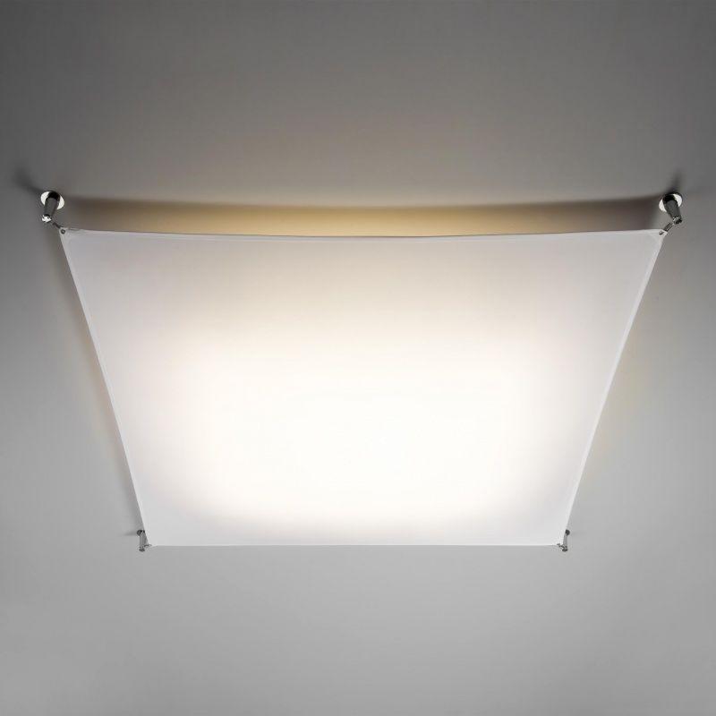 Veroca 1 l mpara de techo de tela de vela b lux - Lamparas de tela para techo ...