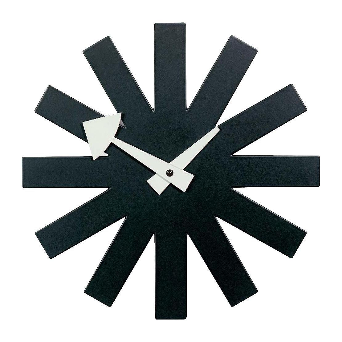 asterisk clock nelson wanduhr vitra. Black Bedroom Furniture Sets. Home Design Ideas
