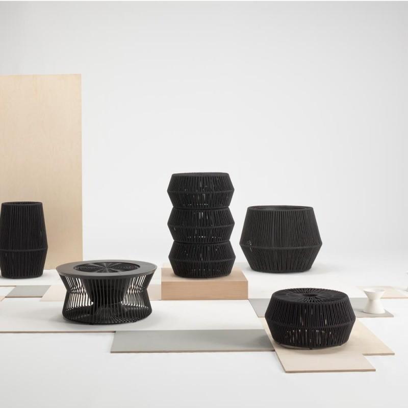 zigzag tabouret kettal. Black Bedroom Furniture Sets. Home Design Ideas