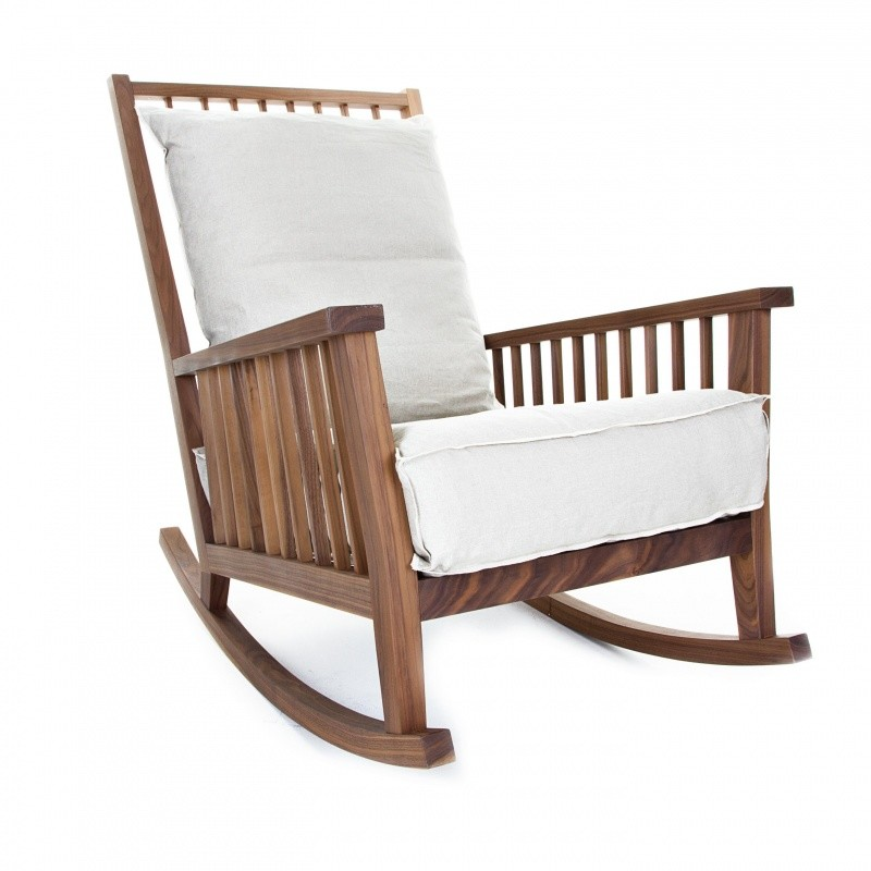 Gray 09 rocking chair gervasoni for Schaukelstuhl outdoor holz