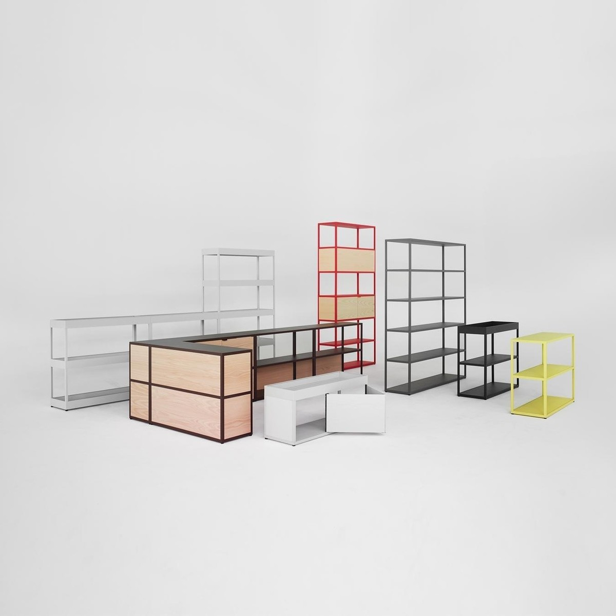 new order sideboard mit tray hay. Black Bedroom Furniture Sets. Home Design Ideas