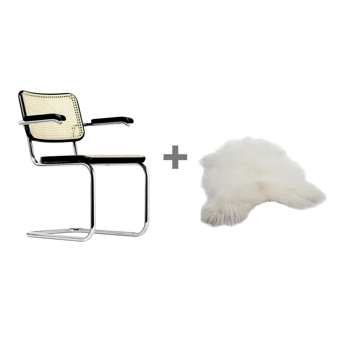 aktionsset thonet s 64 freischwinger fell thonet. Black Bedroom Furniture Sets. Home Design Ideas