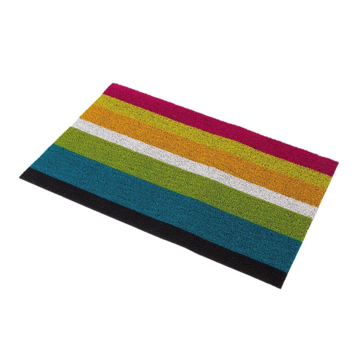 Shag Bold Stripe Door Mat 46x71cm Chilewich