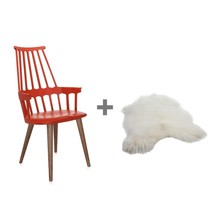 Kartell - Aktionsset Comback Chair + Fell