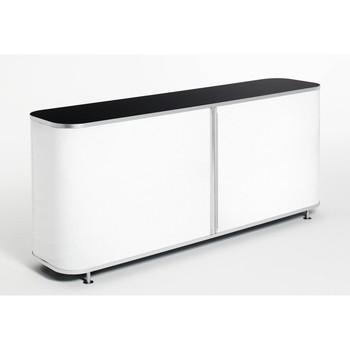 Wogg - Wogg 26 Sideboard - schwarz/Schiebetür opal