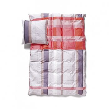 HAY - S&B Colour Block Junior Bettwäsche  - rot/Kissen 45x40 Decke 100x140/Nur noch wenige im Bestand!