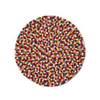 HAY - Pinocchio Teppich - multicolour/Ø90cm