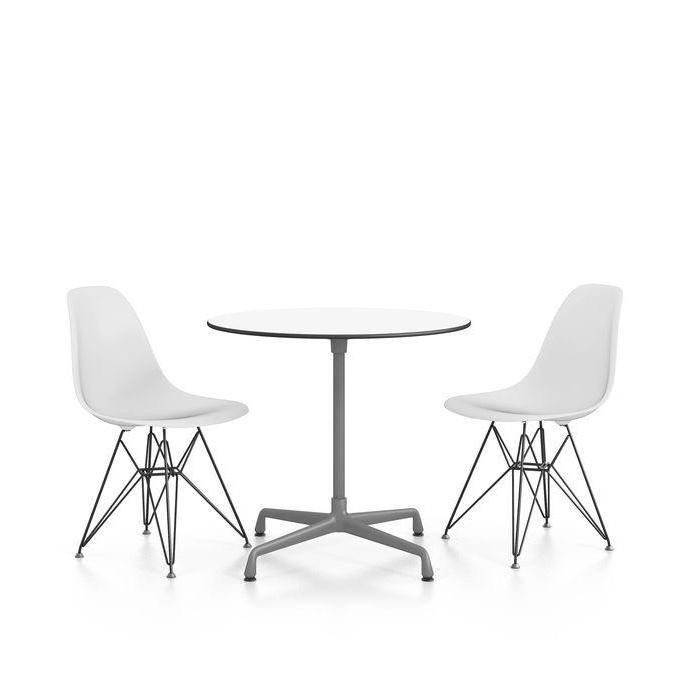 eames plastic chair dsr gestell schwarz h43cm vitra. Black Bedroom Furniture Sets. Home Design Ideas