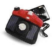 Donkey Products - Annie Kameratasche - schwarz, grau, rot/LxBxH 11,5x9,5x2,5 cm/Maschinenwäsche 30° C