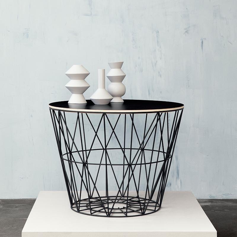wire drahtkorb deckel ferm living. Black Bedroom Furniture Sets. Home Design Ideas