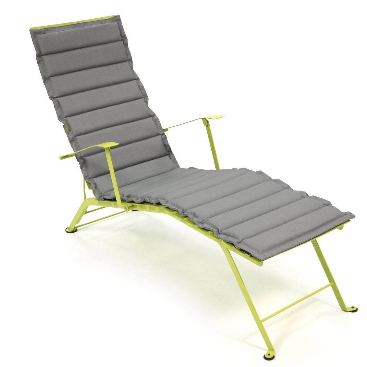 Bistro sun lounger cushion fermob for Matelas chaise longue jardin
