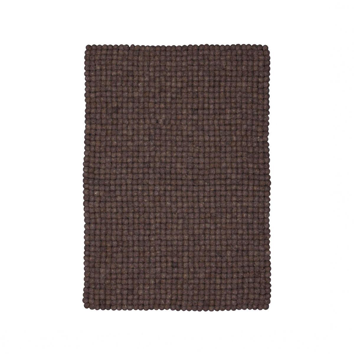 myfelt - Oskar - Tapis en feutre de laine 90x130cm - naturel/brun ...