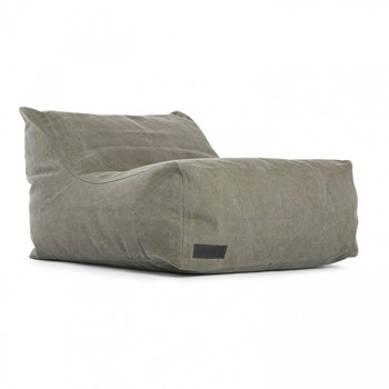 NORR 11 - Club Lounge Chair Sessel - dunkelgrün - washed army/Canvas/70x92x60cm