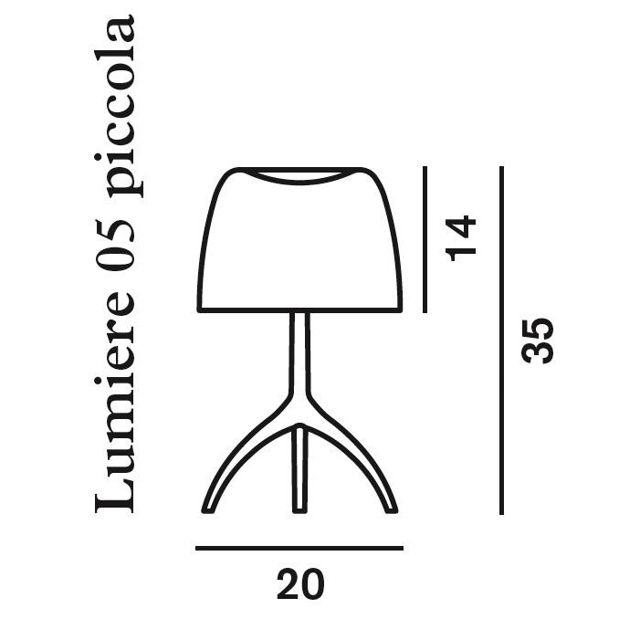 lumi re piccola chrome lampe de table foscarini. Black Bedroom Furniture Sets. Home Design Ideas