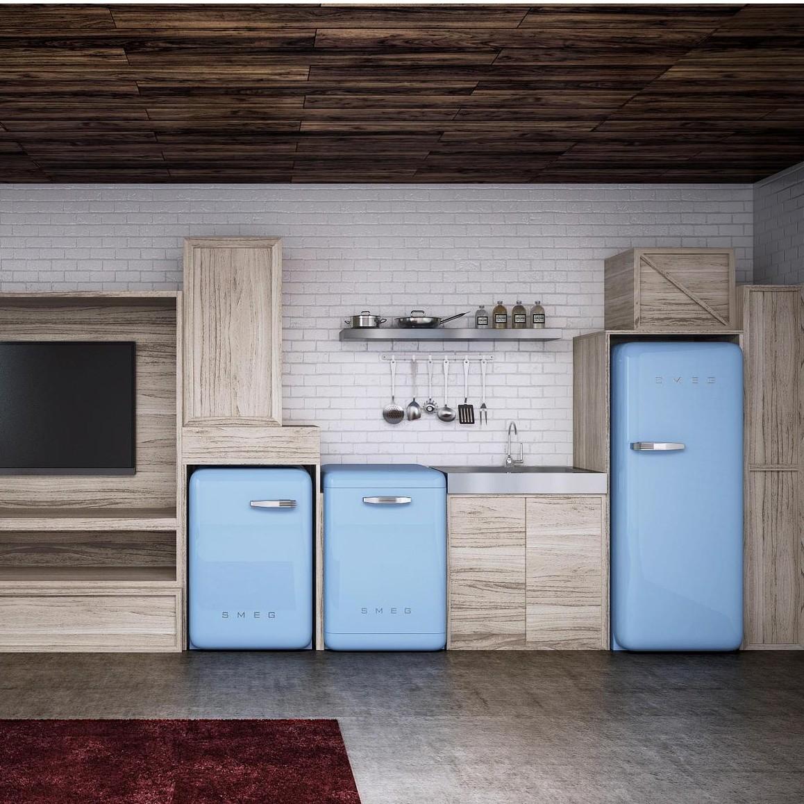 smeg fab28 fridge smeg. Black Bedroom Furniture Sets. Home Design Ideas