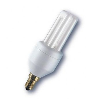 QualityLight - FLUO E14 Kompakt 5W - opal/Glas/Energieeffizienzklasse a/Gewichteter Energieverbrauch 5 kW/1000 h