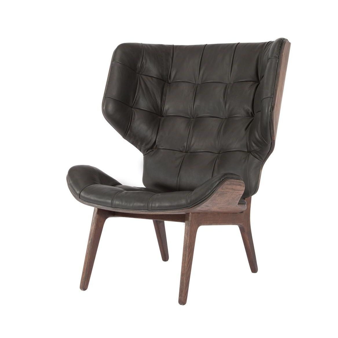 Mammoth Fluffy Lounge Chair Leather