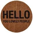 Bloomingville - Hello People Fußmatte Ø 70cm