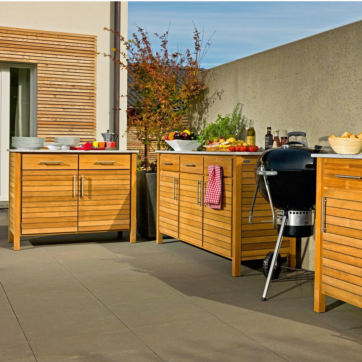 deck cuisine d 39 ext rieur module double weish upl. Black Bedroom Furniture Sets. Home Design Ideas