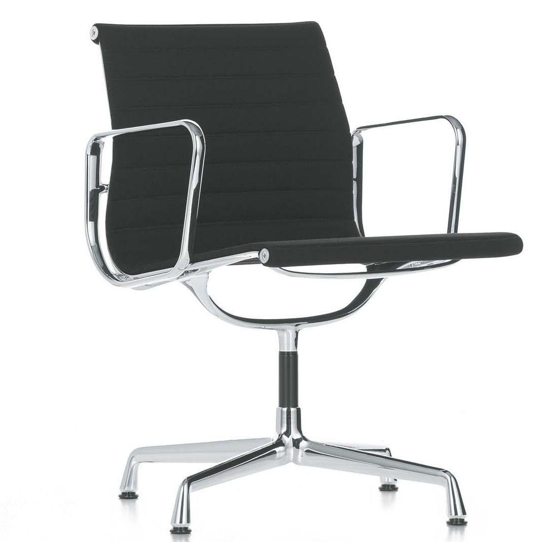 vitra ea 108 aluminium chair fabric hopsak 66 blackframe chromedwith aluminium chair ea 108